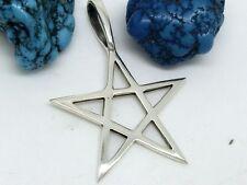 Großer Pentagramm 925 Silber Anhänger Schutzamulett Magie