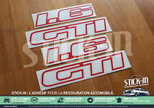 Peugeot 205 GTI 1.6 1600 - Set Autocollants Stickers Monogrammes kit