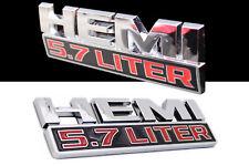 EMBLEM 5,7 LITER HEMI Dodge Ram 1500 2500 Schriftzug Chrom Aufkleber Abzeichen