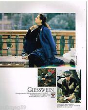 Publicité Advertising 1991 Pret à porter les vestes Giesswein