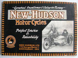 NEW HUDSON RANGE - Motorcycle Sales Brochure - 1923 - 3rd Edition
