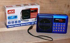 H089UR FUNBOX Multimedia player MP3 USB SD AUX IN FM 50W Radiospieler LCD Blau