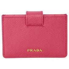Prada Accordion Saffiano Leather Card Case - Peonia