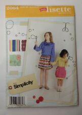 Simplicity 2064 Size 7-14 Girls' Skirt Pullover Bouse