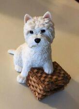 1995 England Sherratt Simpson West Highland White Terrier Westie & Basket Mint 3