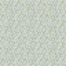 G67416 - Natural FX Blue, Grey, White Mosaic Tile Effect Galerie Wallpaper