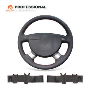 Black Genuine Leather Steering Wheel Cover for Chevrolet Lova Aveo Buick Excelle