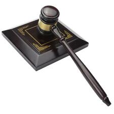 Handmade Wood Auction Hammer For Lawyer Judge Handcrafted Law Court Sale Gavel