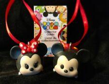 Disney Tsum Tsum Mickey and Minnie Mouse Christmas Ornament medium red polka dot