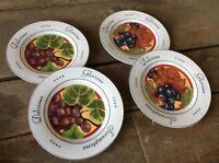 Monkey Peddler BIA Cordon Blue BIA 4 Dessert Plates Box Set Grape Delicious Food