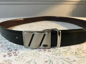 Dunhill Leather Belt mens 36 rare with Buckle BK002 black and brown