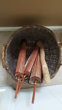 Lot of 3 Vintage Chinese Bamboo Rice Paper Parasols