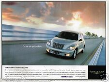 Publicité advertising 2002 Chrysler PT Cruiser 2,2 CRD