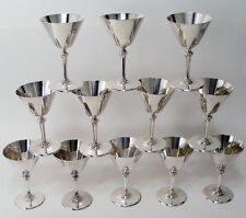 Faneuil by Tiffany Sterling Silver 12 Cocktail Martini Cups, Mono