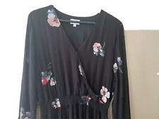 Witchery black Floral Dress - Size 16 - Worn - Good Condition - Floral