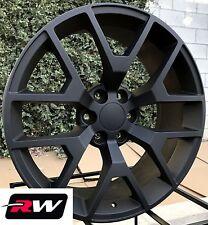 "20"" inch 20 x9"" Wheels for Chevy Silverado Satin Black GMC Sierra 2014 2015 Rims"