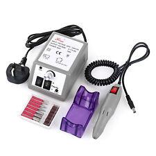 Electric Acrylic Nail Art File Drill Set Manicure Machine 20 Sand Band 30pcs bit