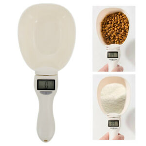 Pet Food Scale Cup For Dog Cat Feeding Bowl Kitchen Scale Spoon With Led Display