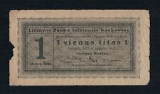 Lithuania 1 Litas Banknote 1922 09 10  Extremely Rare
