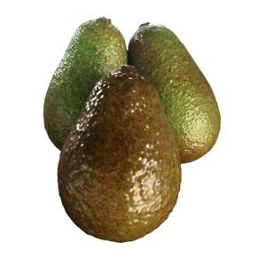 Set of 3 Artificial Avocado Fake Fruit Display Home Decor