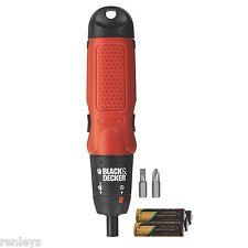 Black & Decker Cordless Screwdriver Electric Alkaline AA Battery Power Tool NEW