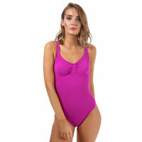 Womens Speedo Sculpture Aquagem Swimsuit In Purple