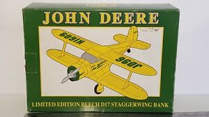 John Deere Beach D17 Staggerwing Bank 1/32 diecast metal replica by SpecCast