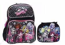 "Monster High 16"" Backpack and Monster High Lunchbox with Water Bottle-Brand New!"