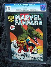 1982 MARVEL FANFARE #1 CGC 9.8 WHITE Spider-Man Frank Miller Daredevil Art Comic