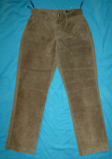 Betty Barclay suede trousers 36 high waisted