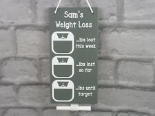 Personalised Weight Loss Chart Pounds Lost Plaque Chalkboard Slimming Diet Aid