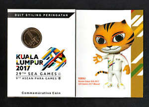 Card Coins 2017 Malaysia 29th Sea games 9th Asean Para games Nordic gold Coin