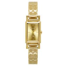 Coach Women's Madison 14502122 Watch Gold Tone Signature Band MSRP $275 NIB