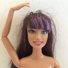 Articulated Arm Wrist Leg Swappin Styles Teresa Barbie Doll Purple Hair GreenEye