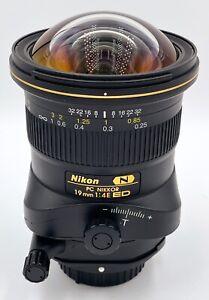 Nikon PC NIKKOR 19mm F/4E ED Lens in Original Box - MINT CONDITION