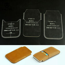 Phone Case Acrylic Leather Template Craft Pattern for iPhone 6 Card Holder 899