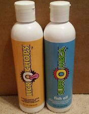 Two 8oz Bottles of Dinovite Products- One LickOchops & One SuprOmega Fish Oil