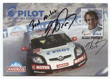 Alain Prost Signed Photo Card Vintage Autographed Signature Formula One