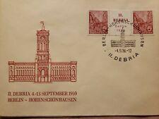 1959 FDC II Debria 4-3 Sept ~ Berlin Houenschonhausen