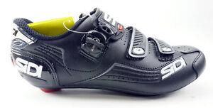 SIDI Alba Road Shoes Men's Size US 9.5 EUR 43.5 Black 3 Bolt