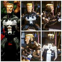 "Custom Sculpt Eddie Brock Venom Painted head cast 6"" scale Marvel Legends"