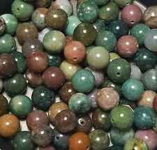 25 x 10mm Mixed Colour Agate Gemstone Beads For Jewellery Making