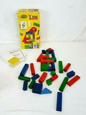 TC Timbers TIME BLOCKS Wooden Blocks Stacking Game #51-8151 100% COMPLETE in BOX