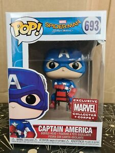 Funko Pop Vinyl - Marvel #693 Captain America -New- Spider-Man - Corps Exclusive