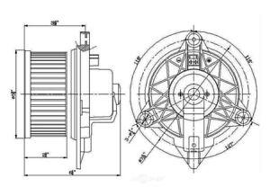 HVAC Blower Motor Global 2311594