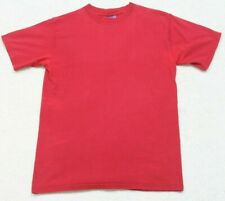 Champion Red Crewneck Athletic Tee T-Shirt Top Mans Mens Size Small Solid