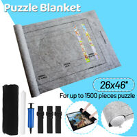 Felt Jigsaw Puzzle Mat Roll Up Pad Blanket Puzzle Storage Bag Set Up To 1500