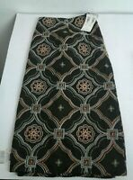 Womens Harold's Brown Geometric  A-line Skirt, Size 16.   NWT Size Zip $118