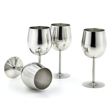 4x Stainless Steel Red Wine Glasses Goblets Drink Mug Keep Wine Cold Thermal
