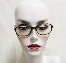 Retro Brown Plastic Eye Glass Frames w/ Lenses Unknown Strength Prescription